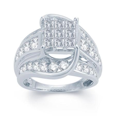 3 CT TW Diamond Multi Stone Engagement Ring