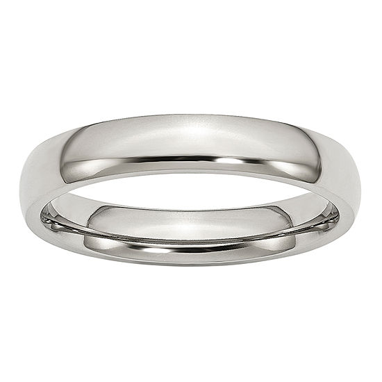 Mens 4 Mm Stainless Steel Wedding Band