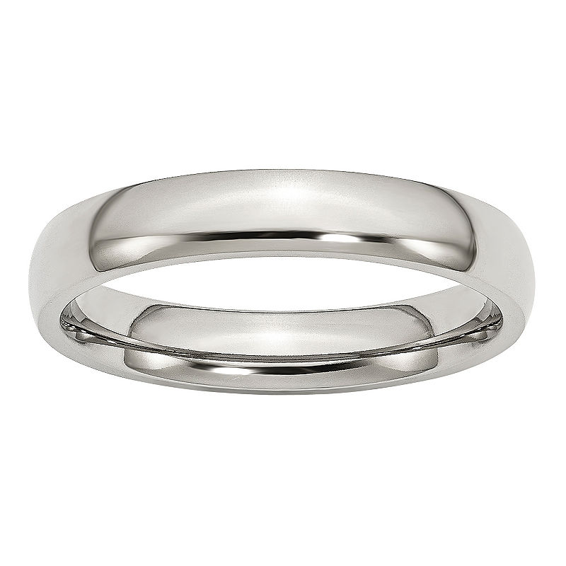 image of Mens 4 Mm Stainless Steel Band-ppr5007131065