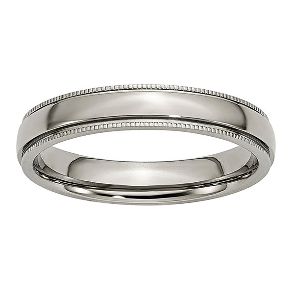 Jcpenney Gift Registry Wedding: Mens 4mm Titanium Wedding Band