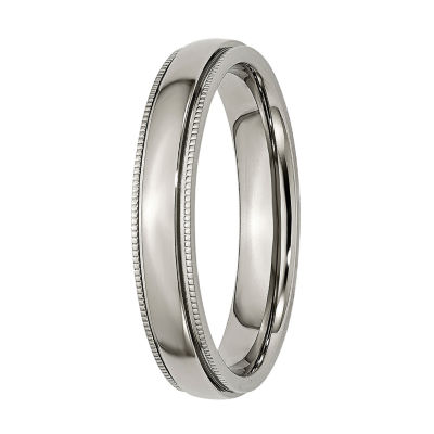 Mens 4mm Titanium Wedding Band