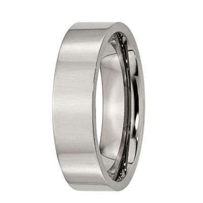 Mens 6mm Titanium Wedding Band