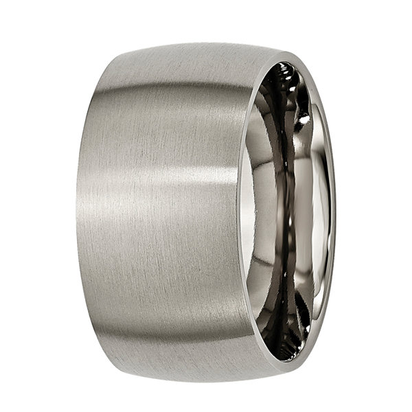 Mens 12Mm Titanium Wedding Band