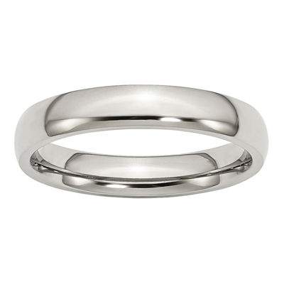 Personalized Mens 4mm Stainless Steel Wedding Band