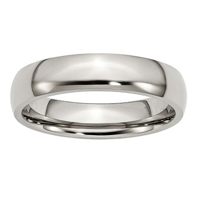 Personalized Mens 5mm Stainless Steel Wedding Band