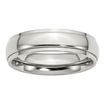 Personalized Mens 6mm Stainless Steel Wedding Band