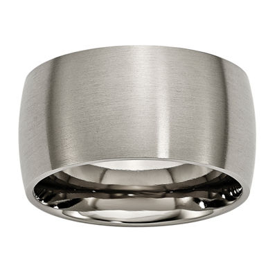 Personalized Mens 12mm Titanium Wedding Band