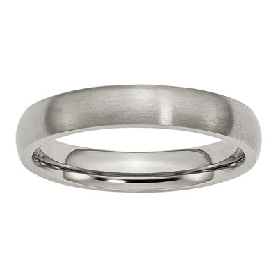 Personalized Mens 4mm Titanium Wedding Band