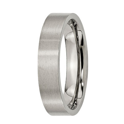 Personalized Mens 5mm Titanium Wedding Band