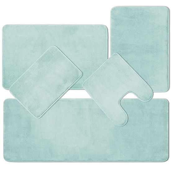 BluCore Quick Dry Cushioned Bath Mat Collection