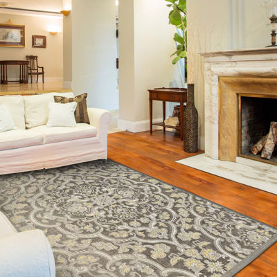 Feizy Rugs® Seymour Damask Rectangular Rug