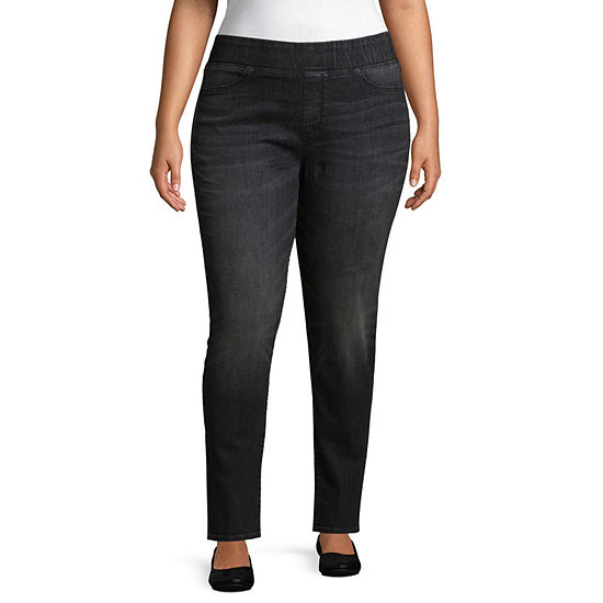 Boutique + Pull on Jeggings - Plus