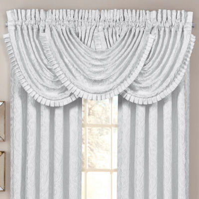 Queen Street Rod-Pocket Waterfall Valance