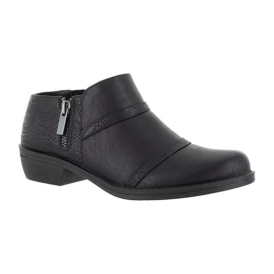 Easy Street Womens Ira Booties Block Heel