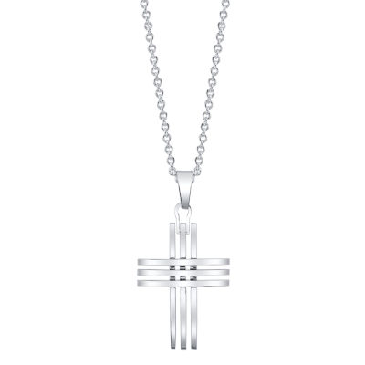 Footnotes J.P. Army Mens Cross Pendant Necklace