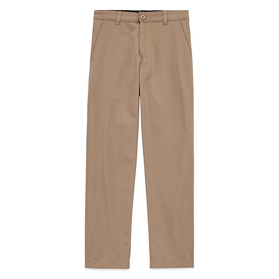 Izod Exclusive Boys Straight Flat Front Pant-Big Kid