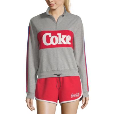 Womens Mock Neck Long Sleeve Sweatshirt Juniors