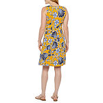 St. John's Bay Sleeveless Floral A-Line Dress