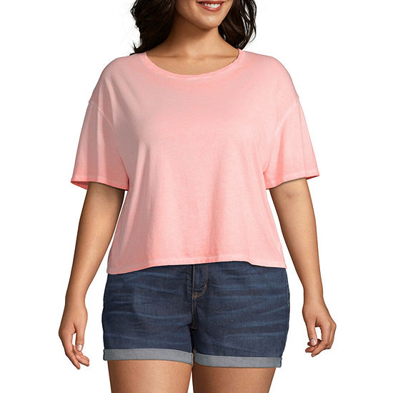 Arizona- Crew Neck Short Sleeve T-Shirt Juniors Plus