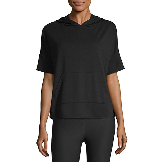 Xersion Womens Short Sleeve Lounge Hoodie