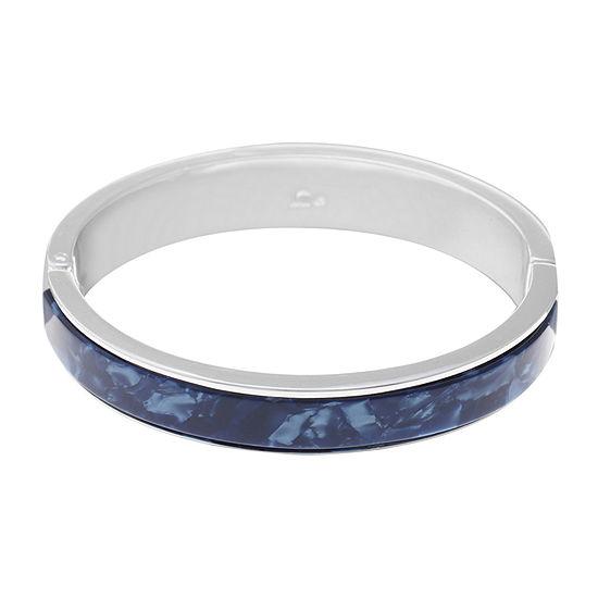 Liz Claiborne Spring Effect Silver Tone Bangle Bracelet
