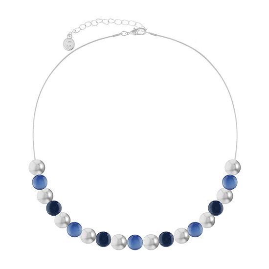 Liz Claiborne Blue 17 Inch Snake Collar Necklace