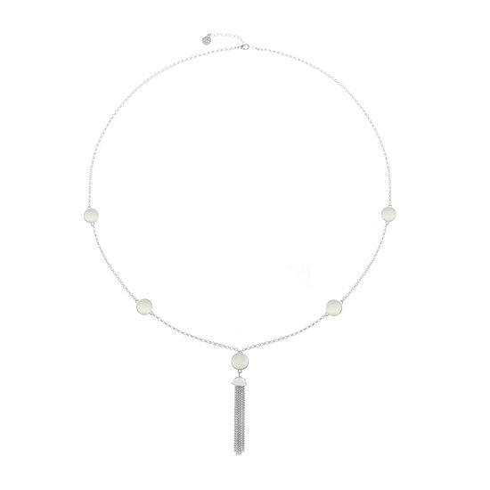 Liz Claiborne White 34 Inch Cable Pendant Necklace