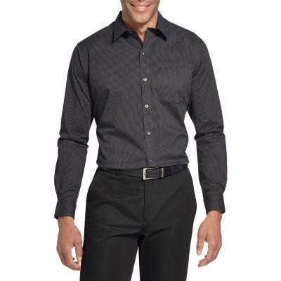 Van Heusen Slim Traveler Performance Non-Iron Woven Long Sleeve Checked Button-Front Shirt-Tall