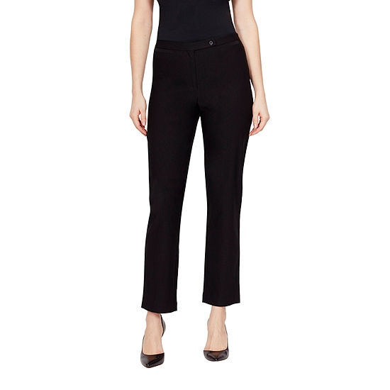 Larry Levine Womens Classic Fit Ankle Pant