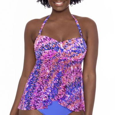 Sonnet Shores Abstract Tankini Swimsuit Top