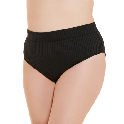 Decree Ribbed Womens High Waist Bikini Swimsuit Bottom Juniors Plus