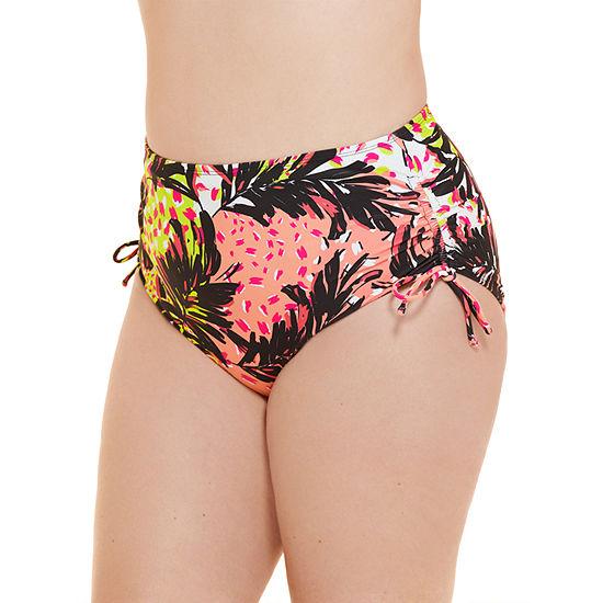 Decree Earthy Animal Womens High Waist Bikini Swimsuit Bottom Juniors Plus