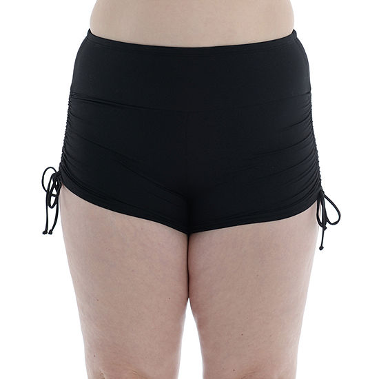 Sonnet Shores Side Tie Womens Swim Shorts Plus