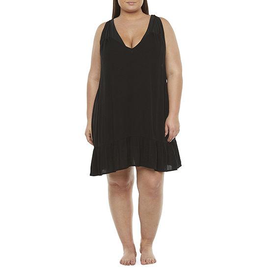 Decree Womens Dress Swimsuit Cover-Up Juniors Plus