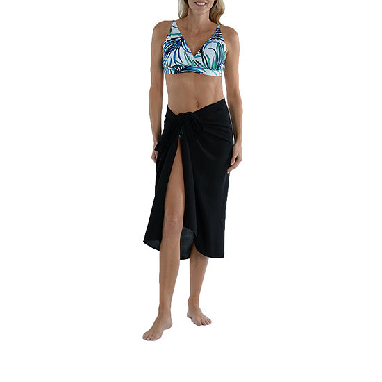 Sonnet Shores Tropical Lead Bra Top and Tie Front Sarong