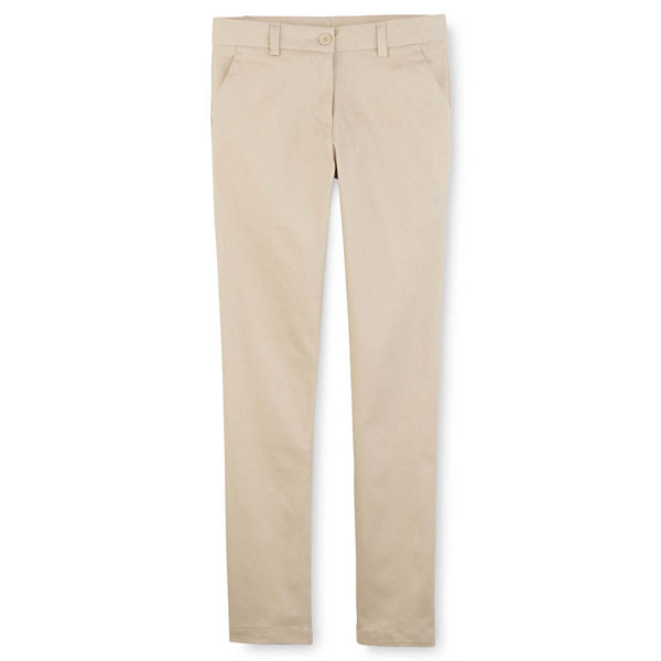 IZOD Exclusive Stretch Twill Regular Fit Skinny Pants - Girls 7-16 and Slim