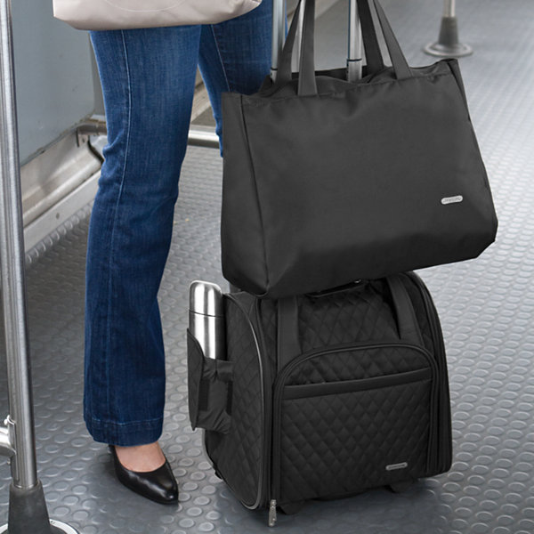 Travelon® Wheeled Underseat Carry-On with Back-Up Bag