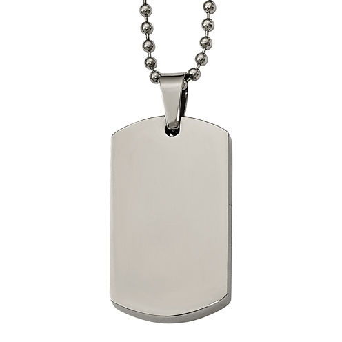 Mens Stainless Steel Dog Tag Pendant
