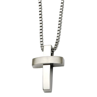 Mens Stainless Steel Cross Pendant