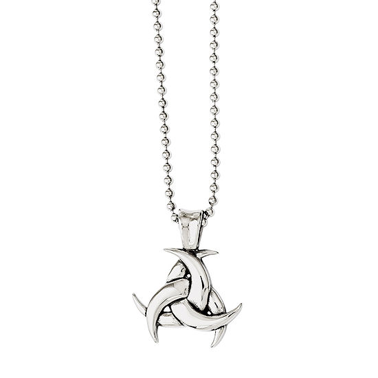 Mens Stainless Steel Antiqued Celtic Knot Pendant