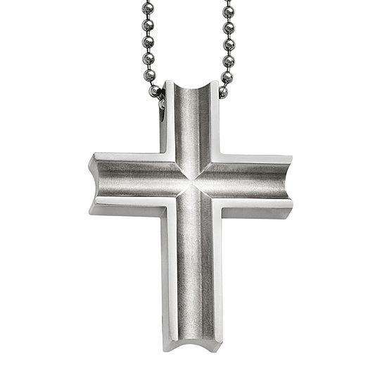 Mens Titanium Cross Pendant