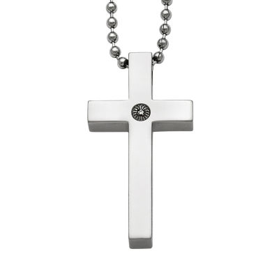 Mens Titanium Cross Pendant