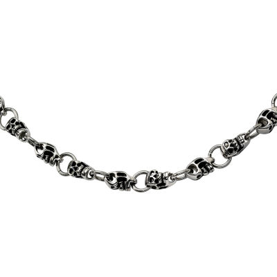 Mens Stainless Steel Skull Chain Necklace