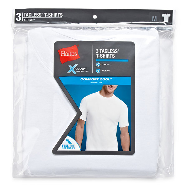 Hanes Men's X-Temp® Comfort Cool® FreshIQ™ Crewneck Undershirt 3-Pack