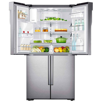 Samsung ENERGY STAR® Smart Wi-Fi Enabled 28.1 cu. ft. 4-Door Flex French Door Refrigerator