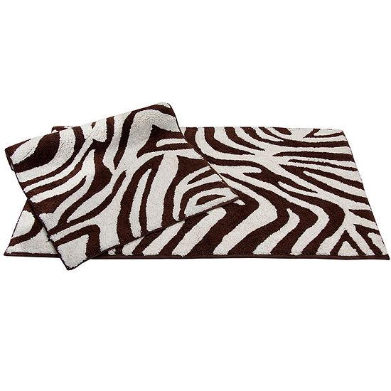 Chesapeake Merchandising Zebra 2-pc. Bath Rug Set