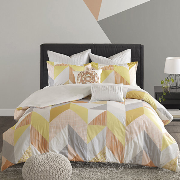 Urban Habitat Parker Cotton Percale 7-pc. Duvet Cover Set