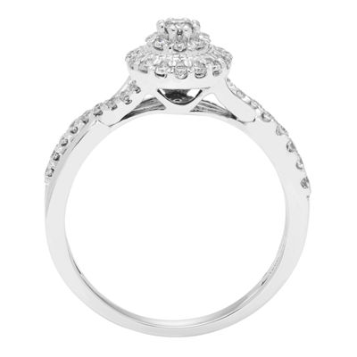 Womens 3/8 CT. T.W. Genuine White Diamond 10K Gold Engagement Ring