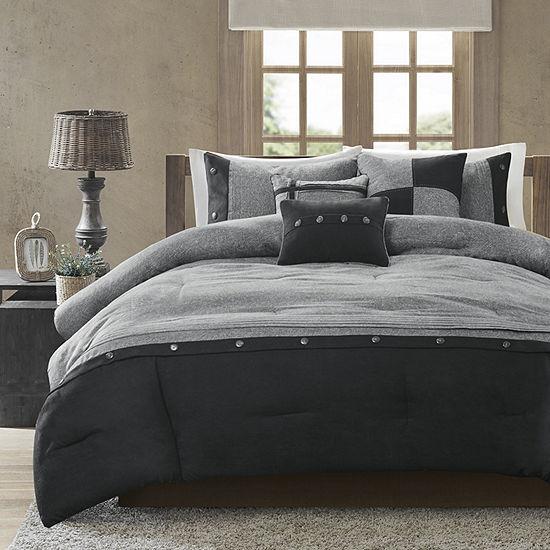 5c47e6fd64e Madison Park Westbrook Colorblock 7 pc Comforter Set
