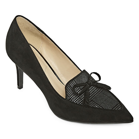 Liz Claiborne Womens Athea Pumps Pointed Toe Spike Heel